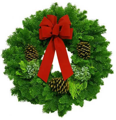 Noble Fir Mix Christmas Wreath