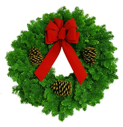 Click to view more Noble Fir Classic Wreath Noble Fir Products
